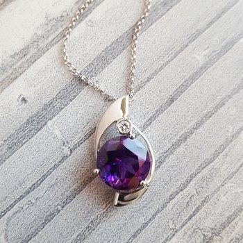 Sol Amethyst Necklace