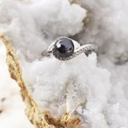 Sami Fine Jewelry Black Pearl Swirl Ring