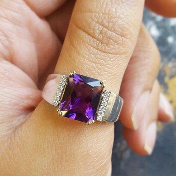 Radiant Cut Men's Ring