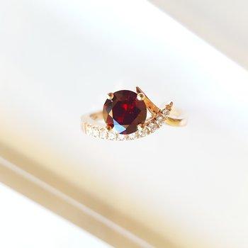 Garnet Caress Ring
