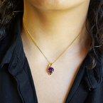 Arizona Amethyst™ Gold Jewelry Sol Pendant