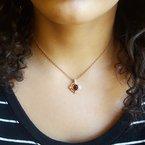 Arizona Anthill Garnet Gold Jewelry The Compass Pendant