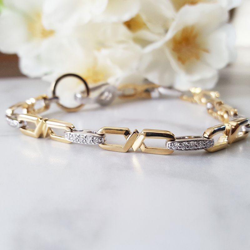 Sami Fine Jewelry Open Link Diamond Bracelet
