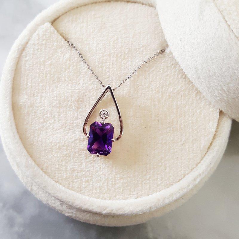 Arizona Amethyst™ Gold Jewelry Radiant Amethyst Pendant