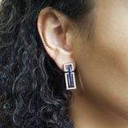 Sami Fine Jewelry Estate Sapphire Earrings