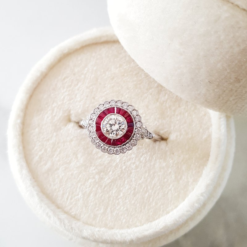 Round Ruby Vintage Ring