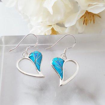 Open Heart Dangle Earrings
