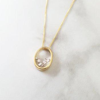 Oval Cascade Necklace
