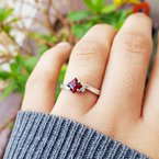 Arizona Anthill Garnet Gold Jewelry Princess Ring