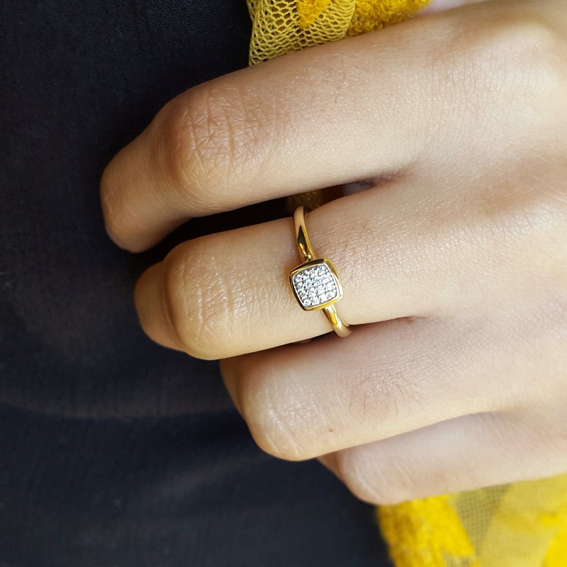 Sami Fine Jewelry Stackable Square Ring