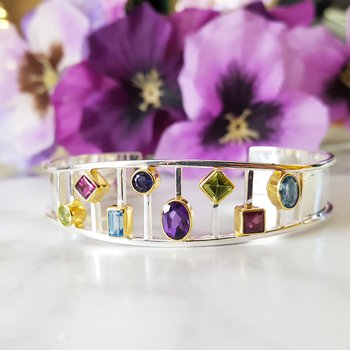 Kaleidoscope Cuff Bracelet