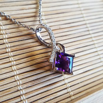 Princess Cut Pendant