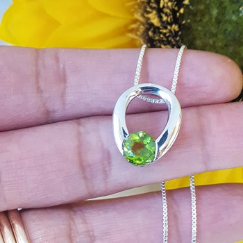 Peridot Horseshoe Necklace
