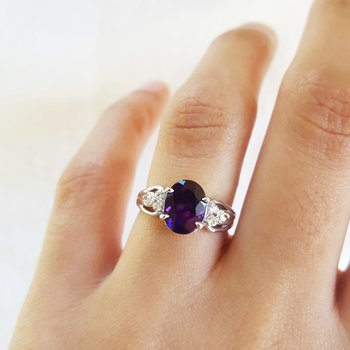 Oval Amethyst Ring