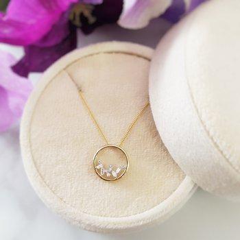 Cascade Circle Necklace