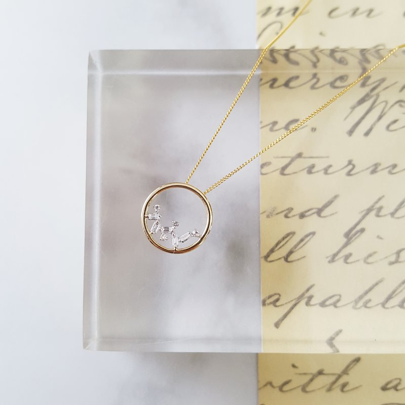 Sami Fine Jewelry Cascade Circle Necklace
