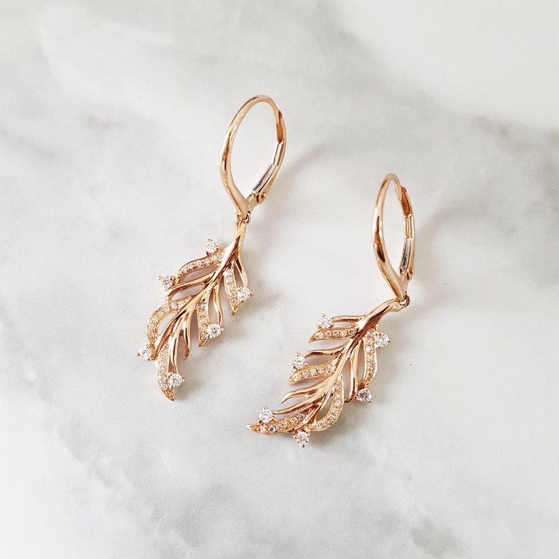 Sami Fine Jewelry Feather Earrings