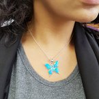 Arizona Turquoise and Inlaid Jewelry Butterfly Pendant