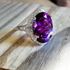 Arizona Amethyst™ Gold Jewelry Amazing Oval Amethyst Ring