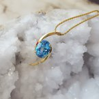 Sami Fine Jewelry Blue Topaz Swirl Necklace