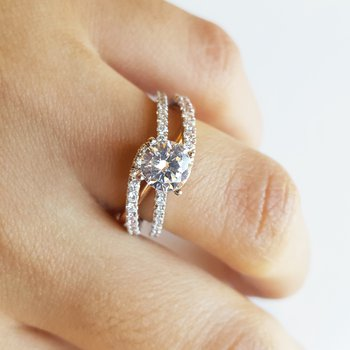 Open Band Engagement Ring