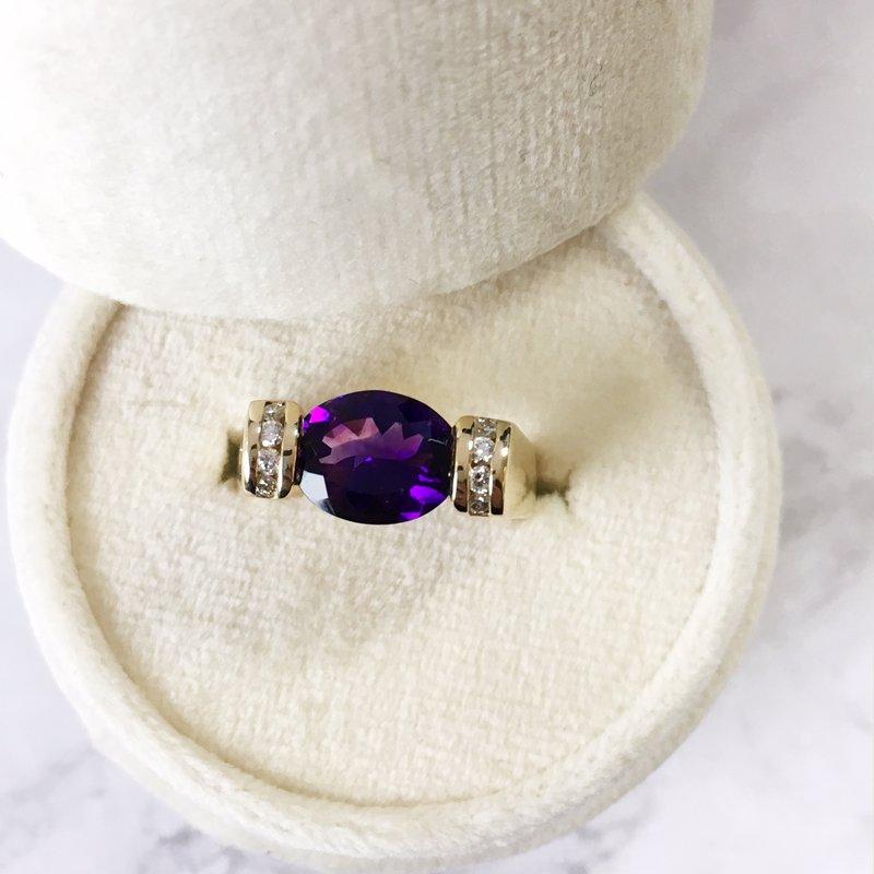Arizona Amethyst™ Gold Jewelry Amethyst Oval Ring