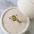 Arizona Peridot Gold Jewelry Shooting Star Ring