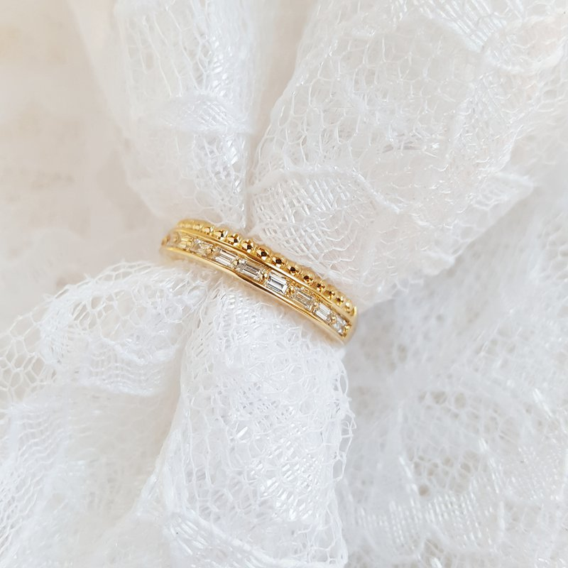 Sami Fine Jewelry Diamond Beaded Row Ring