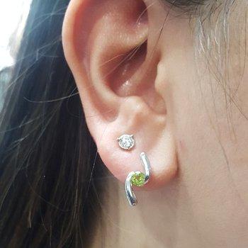 Peridot Bypass Earring