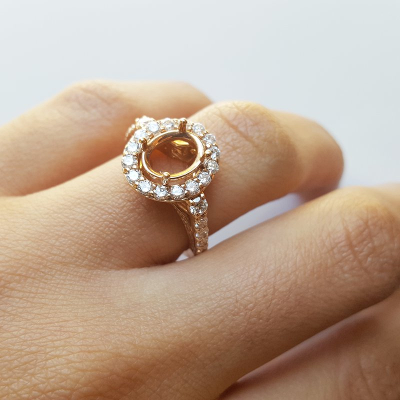 Sami Fine Jewelry Oval Engagement Mount