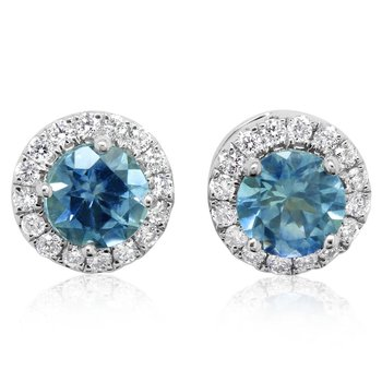 Montana Sapphire Halo Earrings