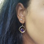 Arizona Amethyst™ Gold Jewelry Dimensional Dangle Earrings