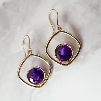 Dimensional Dangle Earrings