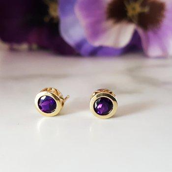 Bezel Earrings - Layaway