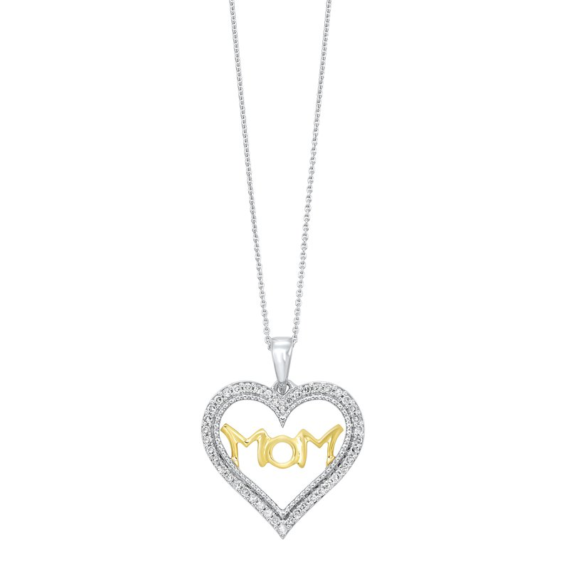 Gems One Mom Heart Pendant