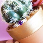 Arizona Amethyst™ Gold Jewelry Tension Set Bar Ring