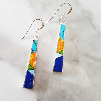 Tapered Bar Dangle Earrings