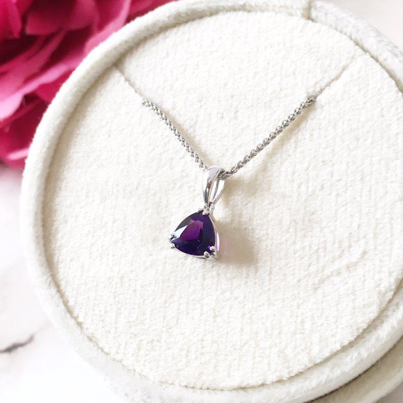 Sami Fine Jewelry SS Amethyst Pendant