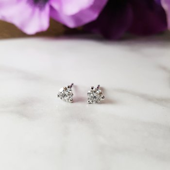 Diamond Martini Studs