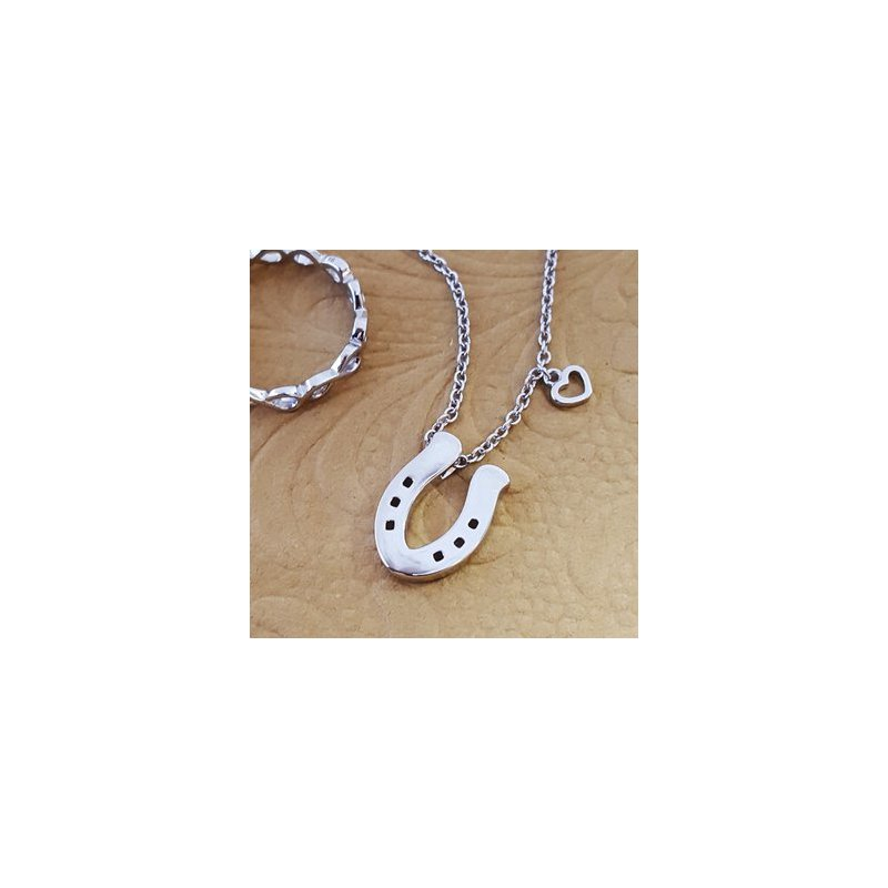 Animal Rockz™ 14kw Diamond Horseshoe Slider