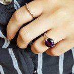 Arizona Amethyst™ Gold Jewelry Round Amethyst Ring