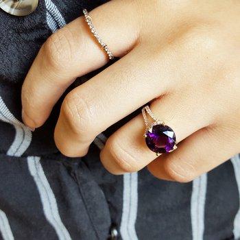 Round Amethyst Ring