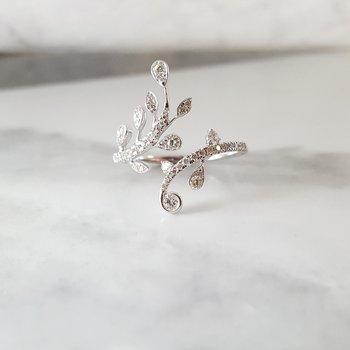 Diamond Floral Wrap Ring