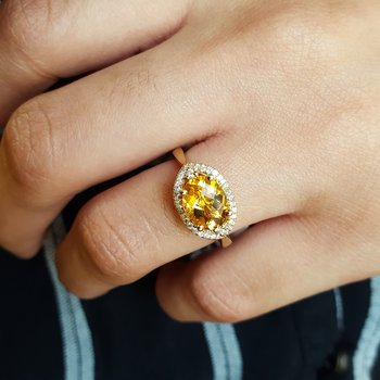 Citrine Vintage Inspired Ring