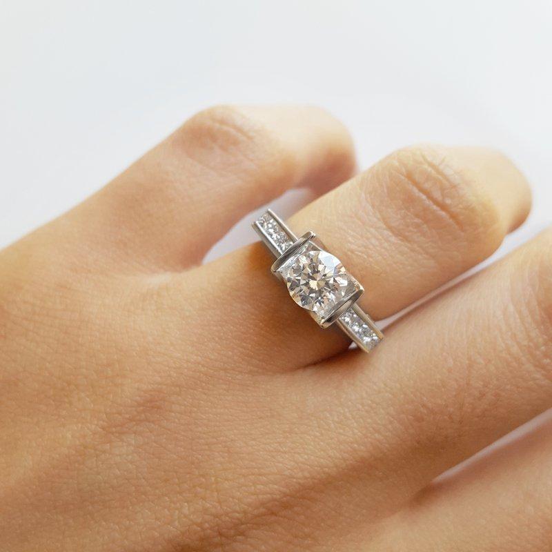 Sami Fine Jewelry Tension Set Ring