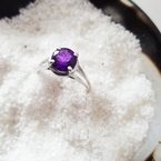 Arizona Amethyst™ Silver Jewelry Round Amethyst Ring