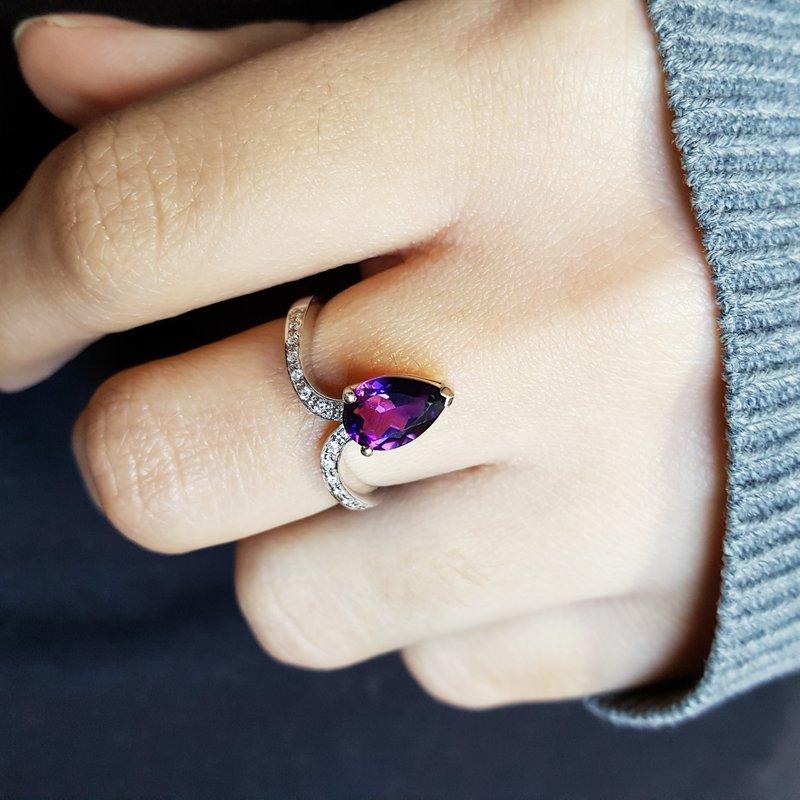 Arizona Amethyst™ Gold Jewelry Uplift Ring