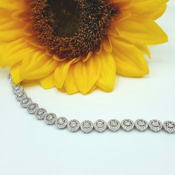 Diamond Halo Bracelet 180476