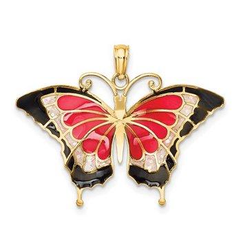 Enamel Butterfly Pendant
