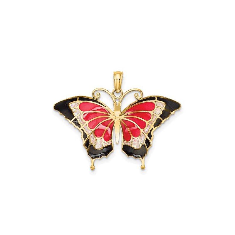 Sami Fine Jewelry Enamel Butterfly Pendant